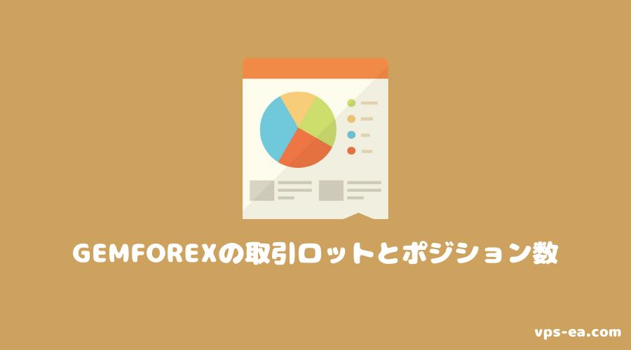 GemForex(ゲムフォレックス)の取引ロットとポジション数
