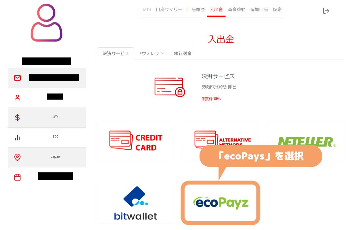 Tradeview入金-ecoPays