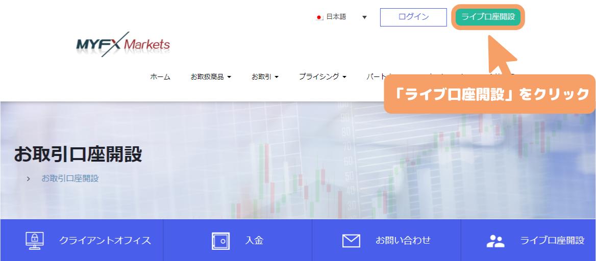 MyFXMarkets公式サイト-ライブ口座開設