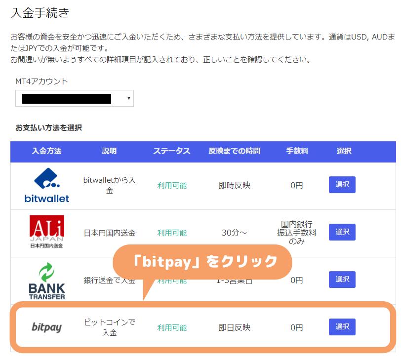 MyFXMarkets-bitpay入金