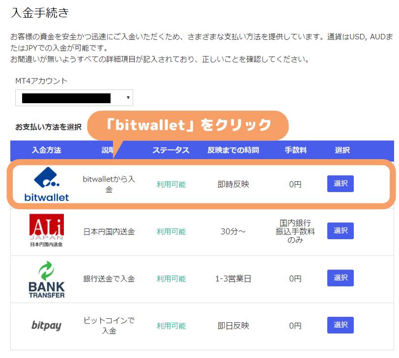 MyFXMarkets-bitwallet入金