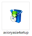 AXIORYデモ口座MetaTrader4ダウンロード-「axioryasia4setup」をダブルクリック