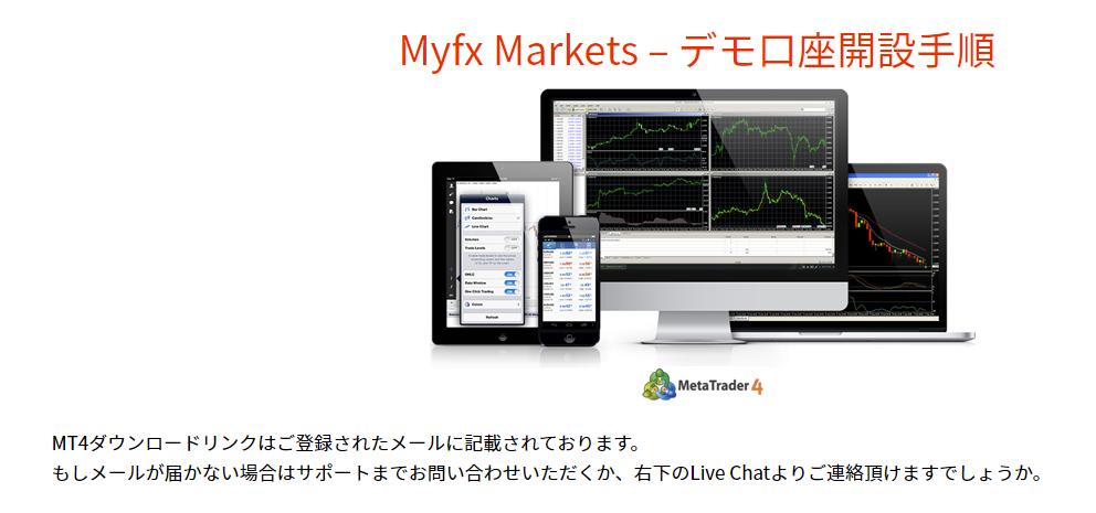 MyFXMarketsデモ口座開設-手続き完了画面