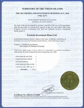 iFOREX-BVIFSC(イギリス領バージン諸島金融サービス委員会)